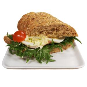 Lunsjbit med skinke og egg